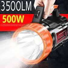 3000M güçlü şarj edilebilir LED el feneri 3500lm Spotlight projektör kamp  feneri USB su geçirmez avcılık yürüyüş için|LED Flashlights