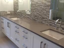 bathroom counter tops. Quartz Countertops, Concrete Colored Bathroom Countertop Counter Tops