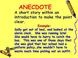 anecdote example using an anecdote in an introductory paragraph example of an anecdote in an essay my tear blog