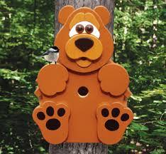 Wood Craft Patterns Classy ALL Bear Cub Tree Dweller Birdhouse Woodcraft Pattern