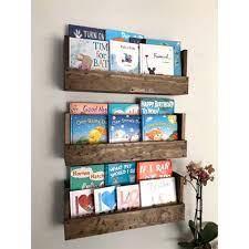 kids room wall hanging book shelves
