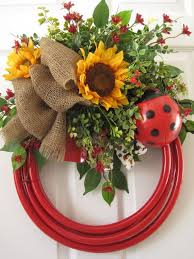 red garden hose wreath free ladybug by funfls on