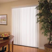 white vertical blinds for patio doors