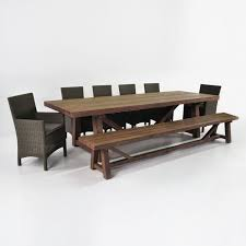 reclaimed teak dining set w bench arm side chairs design warehouse nz