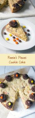reese s pieces cookie cake peanut er and chocolate all in giant cookie form