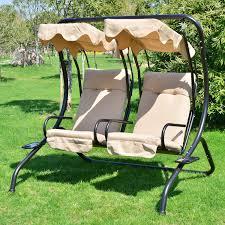 amazing of outdoor patio swings outdoor patio swing canopy 2 person seat hammock bench yard backyard