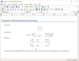 mathematical expressions in trichview