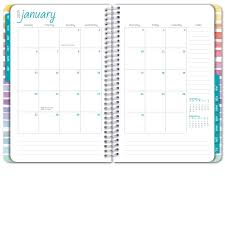 Hardcover Academic Year Planner 2018 2019 Pastel Stripes