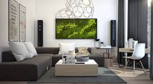 Natural Living Room Design Modern Apartment Design With Several Beautiful Natural Elements