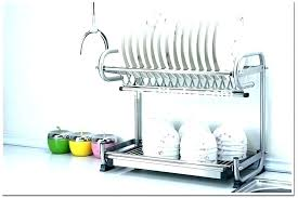 commercial wall mounted dish drying rack hanging stainless steel