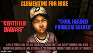 Clementine Needs A Resume The Walking Dead Know Your Meme Enchanting When Does The Walking Dead Resume