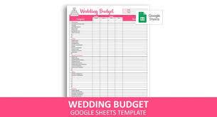 Easy Wedding Budget Google Sheets Template Wedding Budget Planner Wedding Expenses Tracker Instant Digital Download