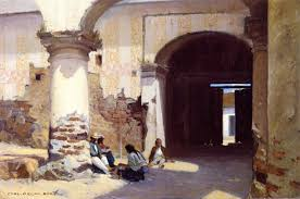 open door painting. Open Door At The Governors Palace | Carl Oscar Borg Oil Painting