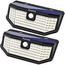 Aootek 120 <b>Led Solar outdoor</b> motion sensor <b>lights</b> upgraded <b>Solar</b> ...