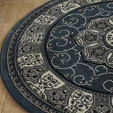 heritage round rug 4400 dark blue