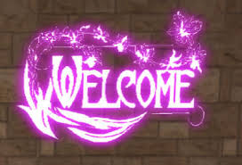 pink welcome second life marketplace welcome neon sign pink