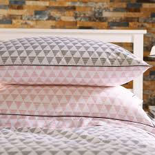 wallis young aztec single duvet cover set pink grey prev