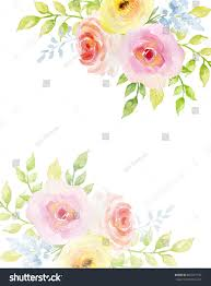 colorful frame border design. Painted Watercolor Composition Of Flowers In Pastel Colors. Frame, Border, Background. Greeting Colorful Frame Border Design W