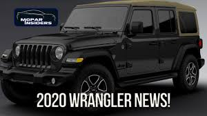 2020 Jeep Colors Chart 2020 Jeep Wrangler Gets Some Interesting Changes For New