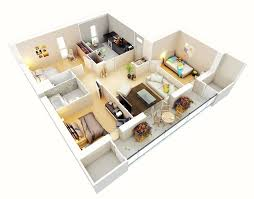 Small 2 Bedroom House Floor Plans 25 Three Bedroom House Apartment Floor Plans