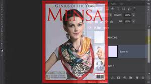 photoshop magazine cover template. Photoshop Tutorial How to Make a Custom Magazine Cover from a