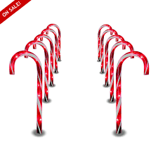 Christmas Candy Cane Garden Stake Lights Set Of 4 Amazon Com Garden Decor Pathway Lights Christmas Candy