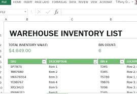 Excel Inventory Template Free - Sarahepps.com -