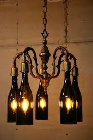 Wine Bottle Light Fixture Best 25 Wine Bottle Chandelier Ideas On Pinterest Bottle