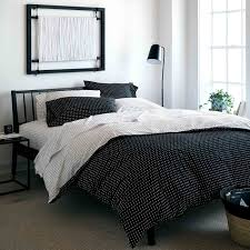 stitch black white reversible duvet cover queen