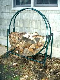 outdoor log holder small firewood rack round plans
