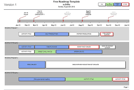 Technology Roadmap Template Excel Andone Brianstern Co