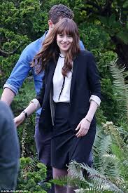 fifty shades darker s jamie dornan and dakota johnson play happy  happily married fifty shades darker will give a glimpse into the early life of mr