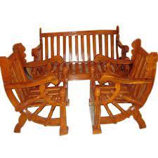 wooden sofa set at rs 15000 set