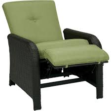lawn furniture home depot. Corolla 1-Piece Wicker Outdoor Reclinging Patio Lounge Chair With Green Cushions Lawn Furniture Home Depot