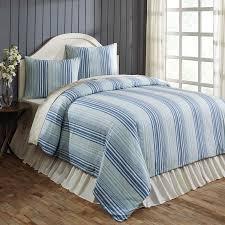 lake coast blue stripe queen duvet cover