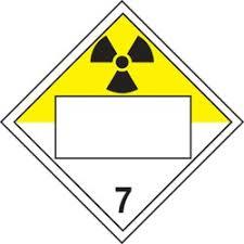 Blank Tdg Placard Hazard Class 7 Radioactive Verona