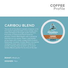 caribou coffee caribou blend keurig k cup pod um roast 18ct walmart