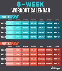 Livestrongwoman Stronger 8 Week Workout Calendar Workout