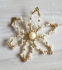 Weihnachtsstern Aus Perlen Baumschmuck Deko