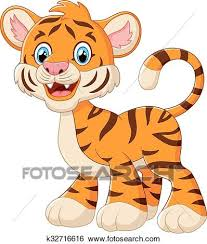 cute animated baby tigers. Unique Animated Vector Illustration Of Cute Baby Tiger Cartoon On Animated Baby Tigers R