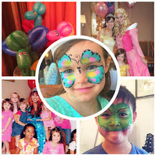 sleeping beauty cinderella pretty face painting balloons birthday party nyc balloonist face painters corporate events nyc