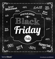 free chalkboard background black friday chalkboard background royalty free vector image