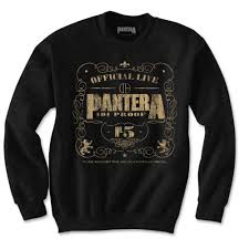 Blk Size Chart Pantera 101 Proof Mens Blk Sweatshirt Attitude Europe