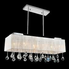 cwi lighting water drop 10 light chrome chandelier with white shade