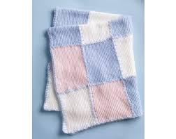 Faux Patchwork Baby Blanket Pattern (Knit) - Lion Brand Yarn & Faux Patchwork Baby Blanket Pattern (Knit) Adamdwight.com
