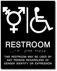 Handicap Bathroom Signs Fascinating TransAll Gender And Wheelchair Symbol Restroom ADA Signs ADA Sign