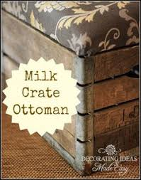how to make an ottoman using a vine milk crate