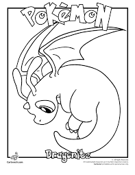 Small Picture Dragonite Pokemon Coloring Page Woo Jr Kids Activities