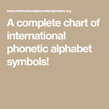 A spelling alphabet is a set of words used to stand for the letters of an alphabet in oral communication. A Complete Chart Of International Phonetic Alphabet Symbols Alphabet Symbols Phonetic Alphabet Symbols