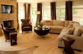lounge area round rugs
